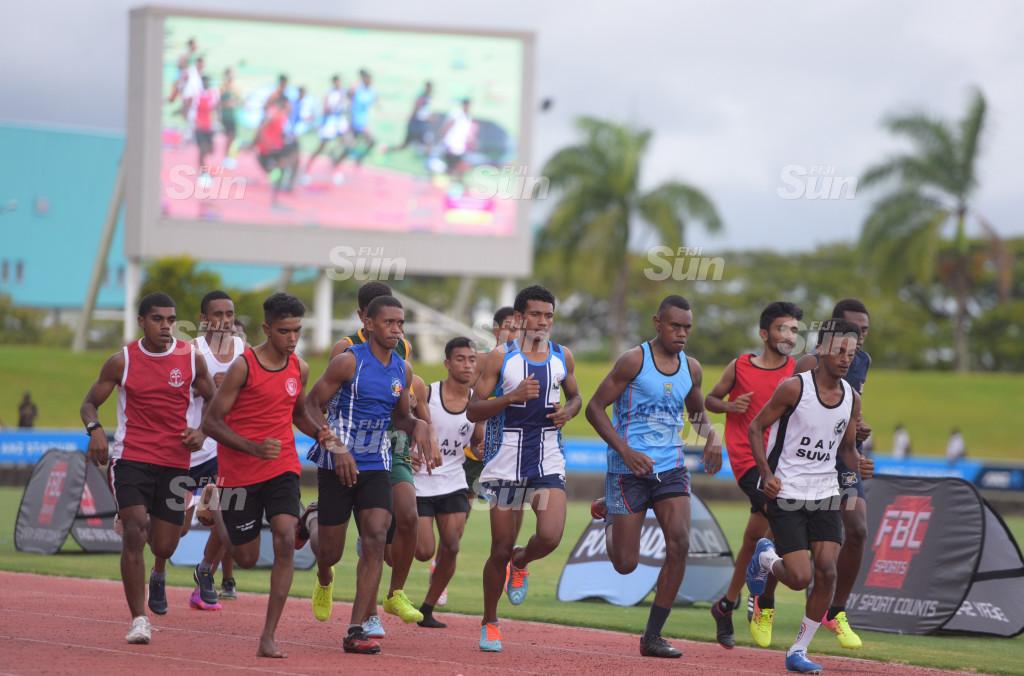 Senior-boys 1500meters Suva Zone 1 final action at ANZ Stadium on 27, 2020. Photo: Ronald Kumar.