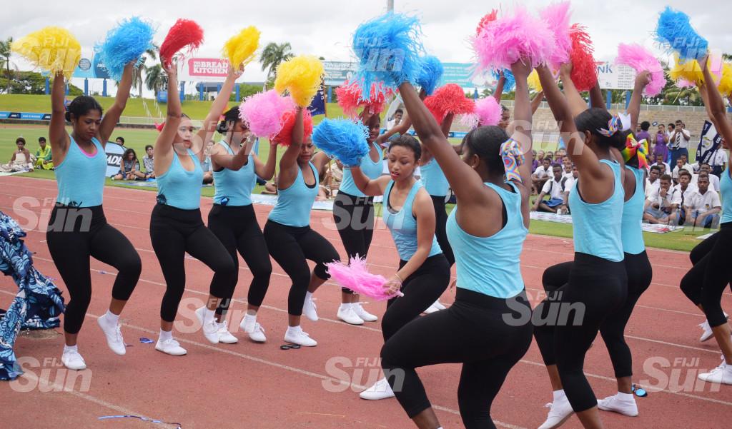 LDS Cheerleading squad during Suva Zone 1 at ANZ Stadium on 27, 2020. Photo: Ronald Kumar.
