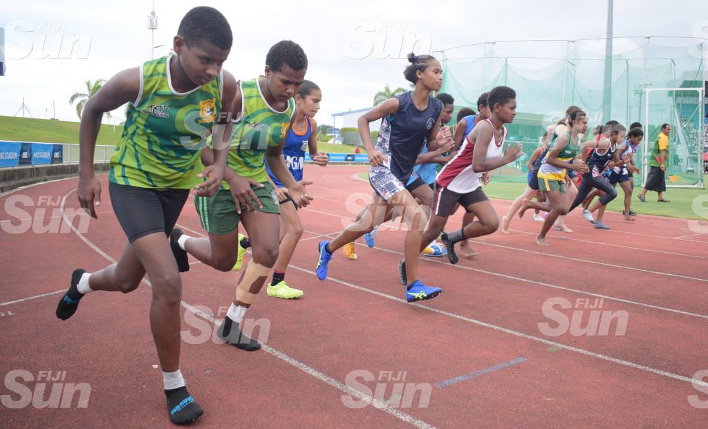 Suva Zone 1 event 1 , 1500meters sub-junior boys final at ANZ Stadium on 27, 2020. Photo: Ronald Kumar.