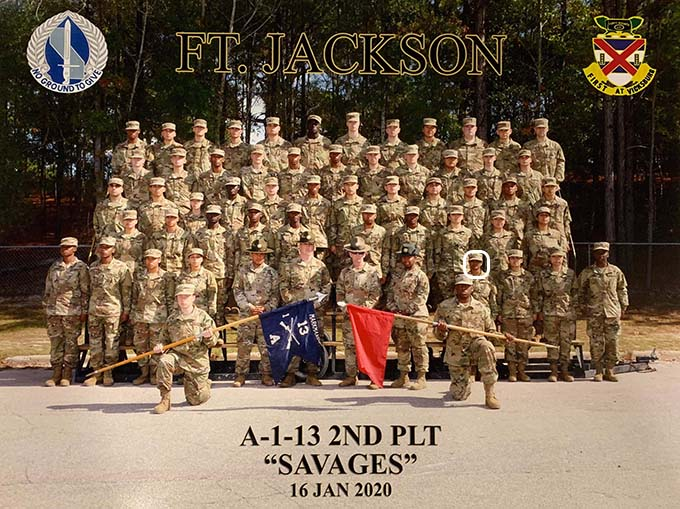 Whole platoon, 4th from right (standing first row)