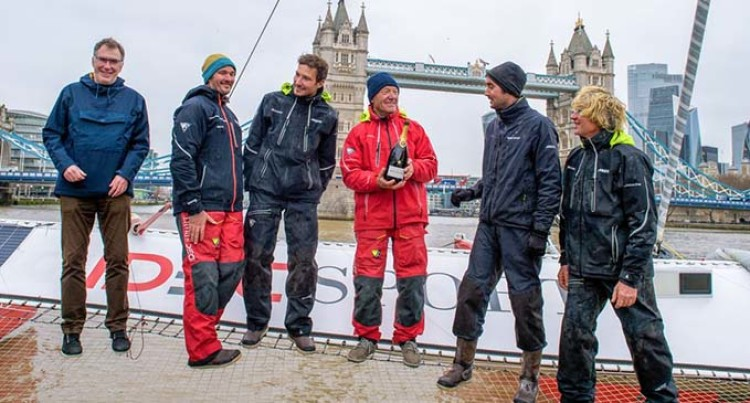 French Sailor Sets Record-Breaking Time For Voyage From Hong Kong To London