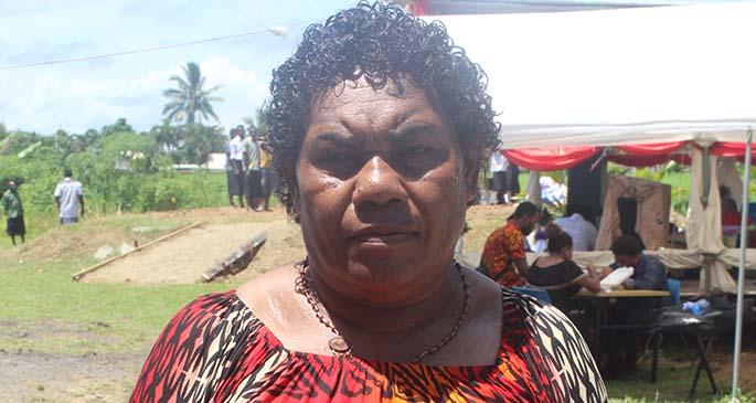 Grieving mum Vitorina Lebakaumata.
