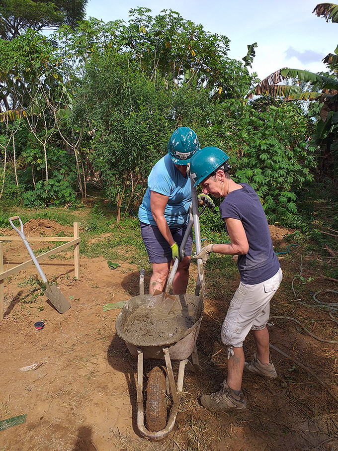 Volunteers from the Habitat for Humanity Fiji work on their various home building projects at sites around Fiji. Photos: Habitat for Humanity Fiji