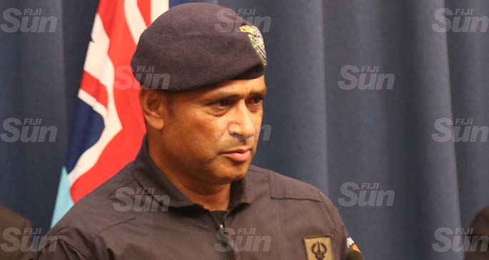 Commissioner of Police Brigadier-General Sitiveni Qiliho during a press conference in Suva on March 21, 2020. Photo: Inoke Rabonu