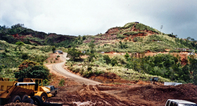Mount Kasi gold mine in the early stages of development.