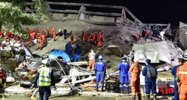 43 Rescued After Hotel Collapse In East China