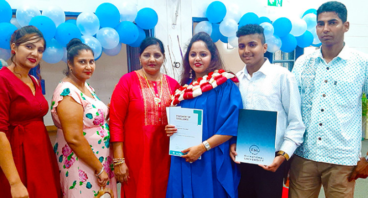 FNU Graduation: Naicker's Late Father Continues To Inspire Her
