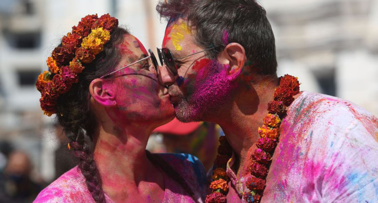 Nepal Celebrates Holi Festival With Vibrant Colours To Welcome Spring
