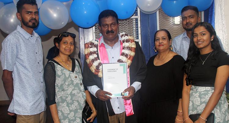 Award Winner Credits His Daughter's Encouragement