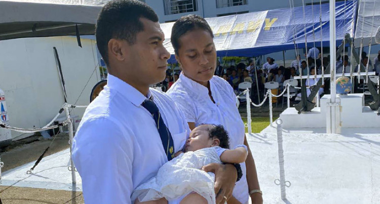 First Baptism At Stanley Brown Navy Base