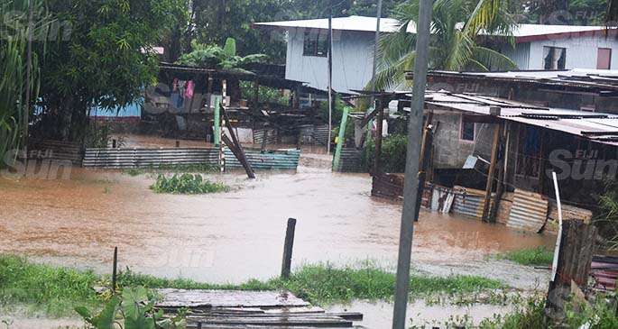 Flooded homes in Korovuto, Nadi, on March 21, 2020. Photo: Mereleki Nai