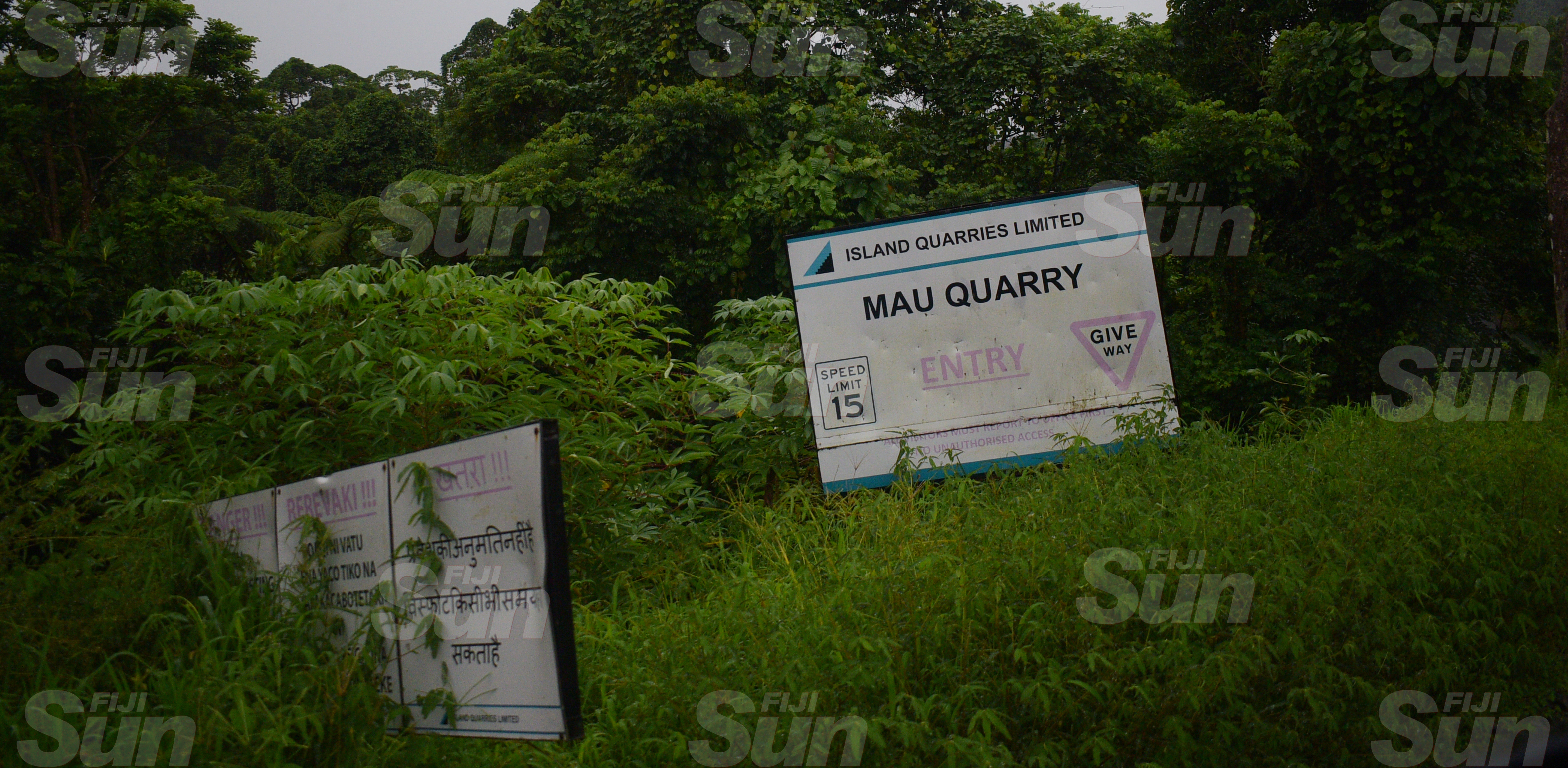 Island Quarries Limited's Mau Quarry, where landslide have claimed three lifes on March 20, 2020. Photo: Ronald Kumar.