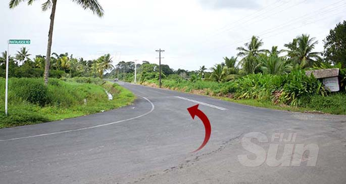 This is the road leading to where Mereseini Nabou claims she was held captive. Photo: Ronald Kumar