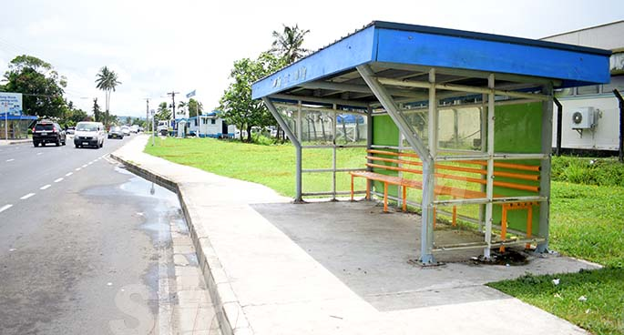 The bus stop at Fletcher Road, Vatuwaqa, where Mereseini Nabou alleged she met her captors, is near the Police Community Post. Photos: Ronald Kumar
