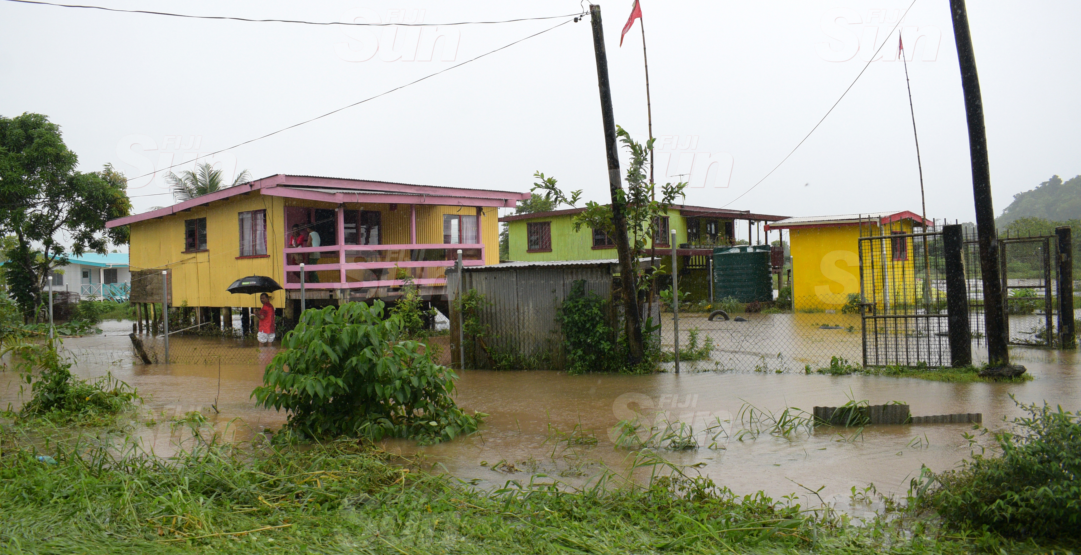 Continues heavy rain resulted in flash flooding at Korociriciri in Nausori on March 20, 2020. Photo: Ronald Kumar.