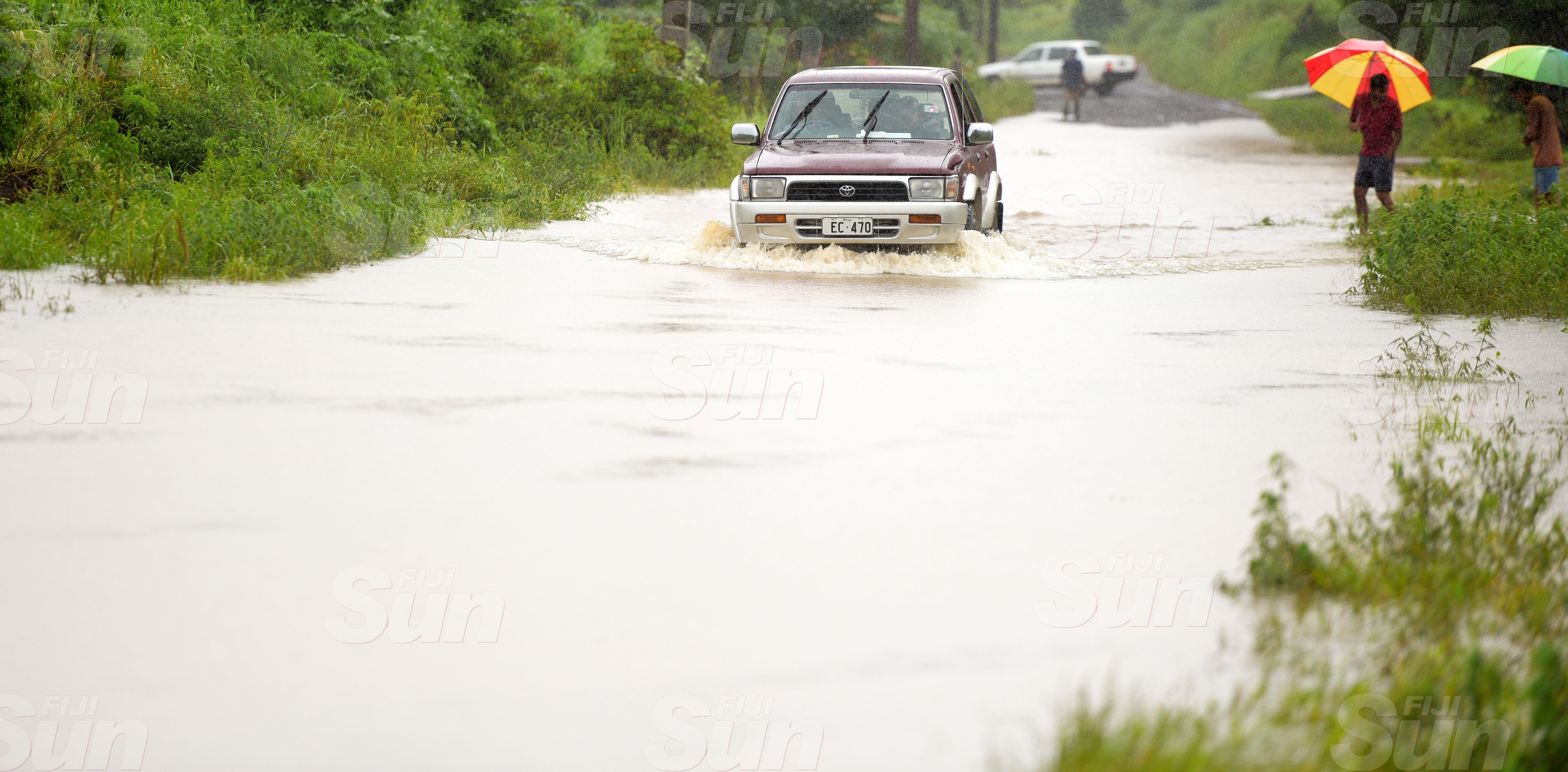 Part of the road in Korociriciri, Nausori was only accessible by four wheel drive due to flash flooding on March 20, 2020. Photo: Ronald Kumar.