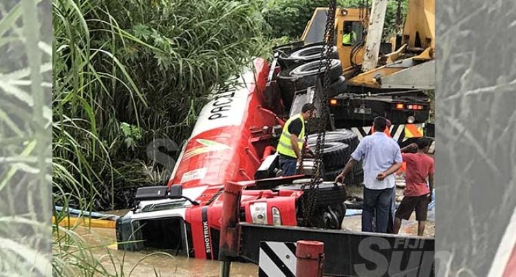 Tanker Misjudges Size Of Bridge