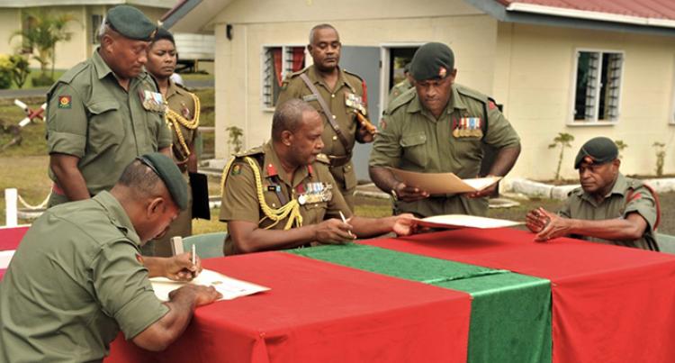 Colonel Gadai Facilitates Change In Command