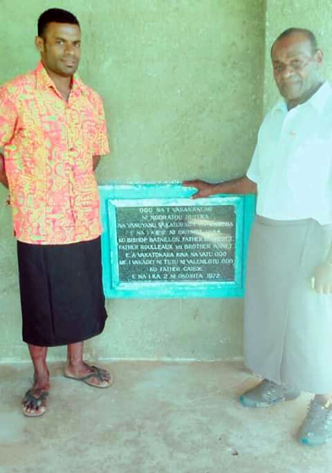Manasa Yavala and his father, Joe Yavala.