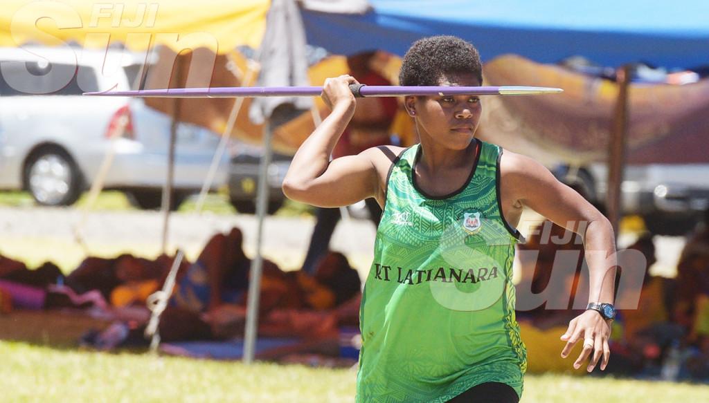 Vilisi Lutumailagi of Ratu Latianara College during Inter-girl jevulin final  at ANZ Stadium on March 4, 2020. Photo: Ronald Kumar.