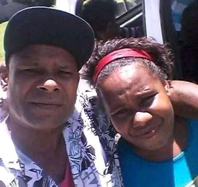 In happier days ... Aporosa Ratu Ralulu with his eldest daughter Adi Mereseini Ralulu.