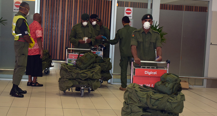 Republic of Fiji Military Forces Troops Bound For Sinai Return