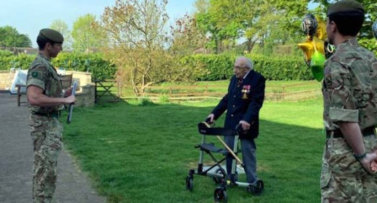 99-Year-Old War Veteran Raises Over 21M Pounds For Britain's Frontline Health Workers