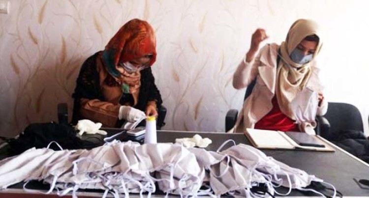 Afghan Girls Making Face Masks To Encourage Fight Against COVID-19