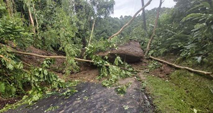 Landslide in Wailoku.