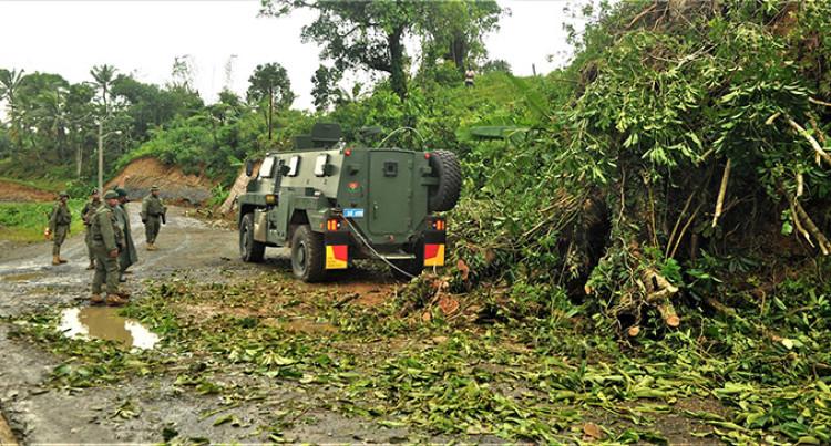 Soldiers Clear Debris Along Suva-Nausori Corridor