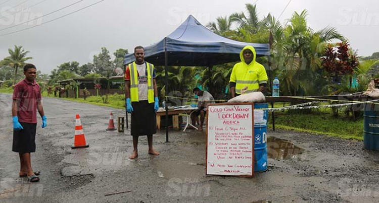 Checkpoint Into Colo-I-Suva Set Up To Guard Against Potential Spread Of COVID-19