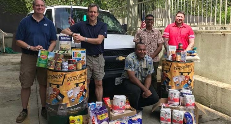 Fijian Competition And Consumer Commission Thanks US Embassy For Donation To Veilomani Food Bank