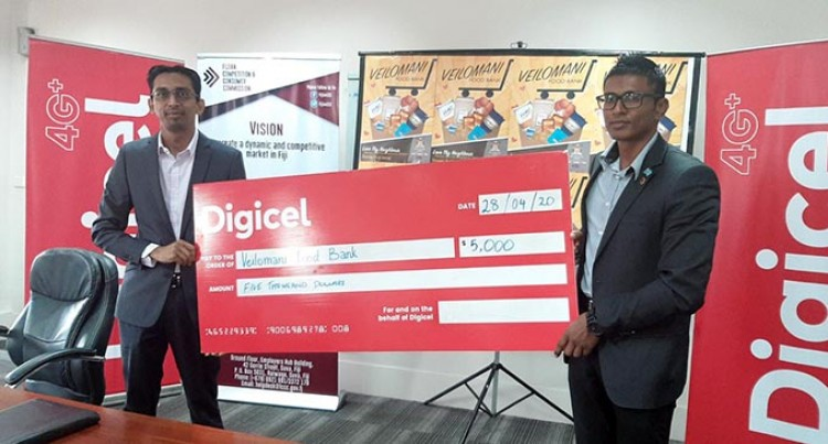 New Digicel Boss Farid Debuts With $5000 Boost For Veilomani Food Bank