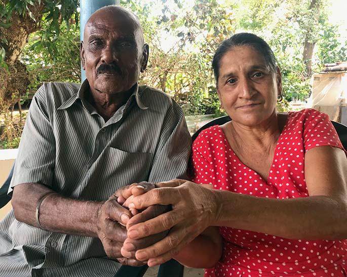 Kedar Singh and wife Maya Wati at their home in Wailoaloa in Nadi on April 14, 2020. Photo: Waisea Nasokia