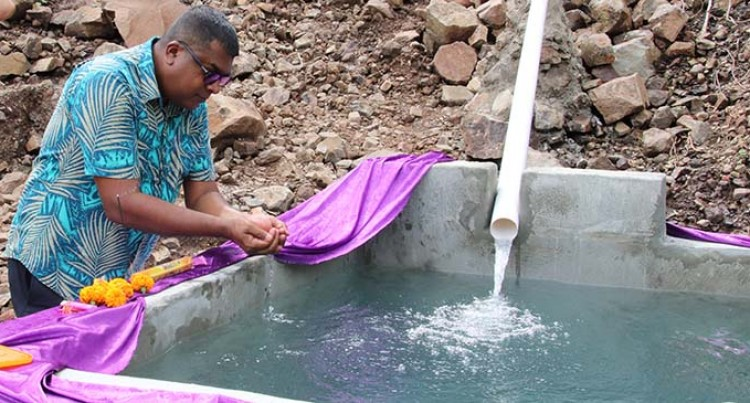 Minister Reddy Commissions Water Project in Tavua