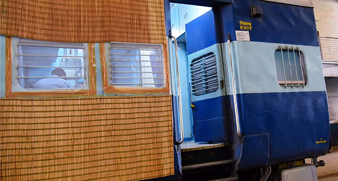 Railway coaches in India are being converted into isolation units.