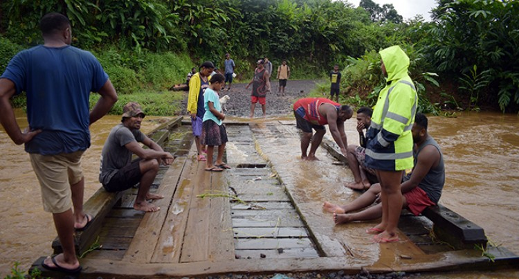 Rain Damages Bridge, Causes Landslip and Floods Homes