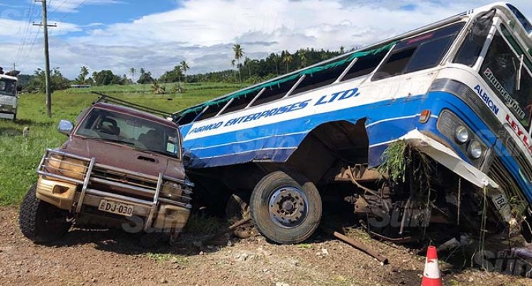 Passengers Count Their Lucky Stars After Bus Accident Along Labasa Highway