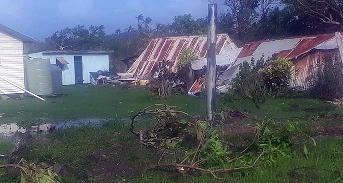 What was left from Tropical Cyclone Harold in Ono-i-Lau