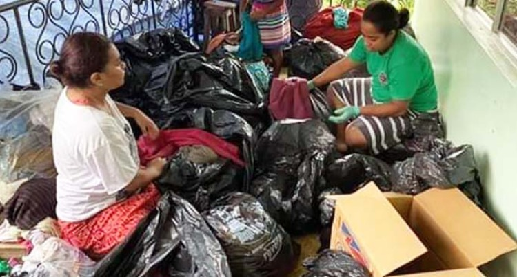 Families Send Over Clothes And Food For Loved Ones Affected By Cyclone Harold