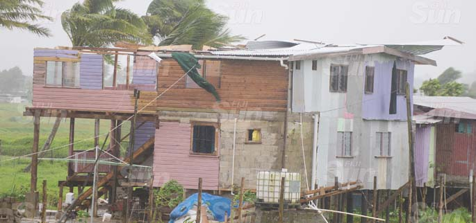The roof of this house in Navua was blown off with strong winds as TC Harold passed by Fiji group on April 8, 2020. Photo: Ronald Kumar.