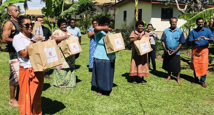 Marriott International Fiji Donate 200 Food Packs To Narewa Village