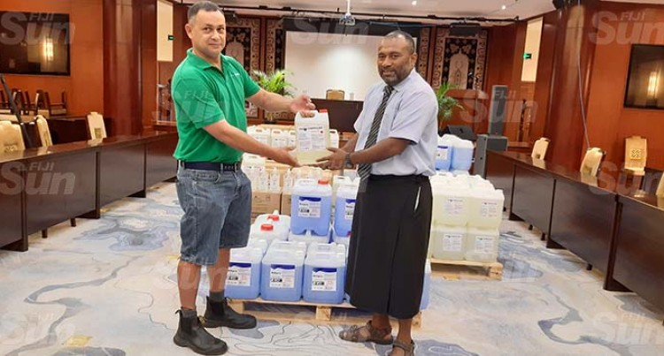 Health Ministry Receives $50,000 Worth Of Hygiene, Cleaning Poducts