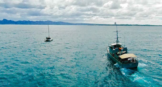 RFNS Kula on its way to the aid of a distressed yacht early last year just outside of Suva Harbour. The vessel was decommissioned on December 21, 2019. The vessel served the Republic of Fiji Military Forces Naval Division for 25 years.  Photo: RFMF Naval Division