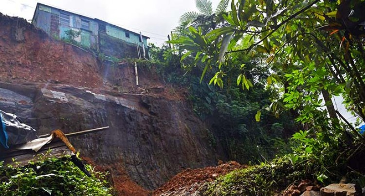 Family Relocates After Landslide Causes House On Edge Of Cliff