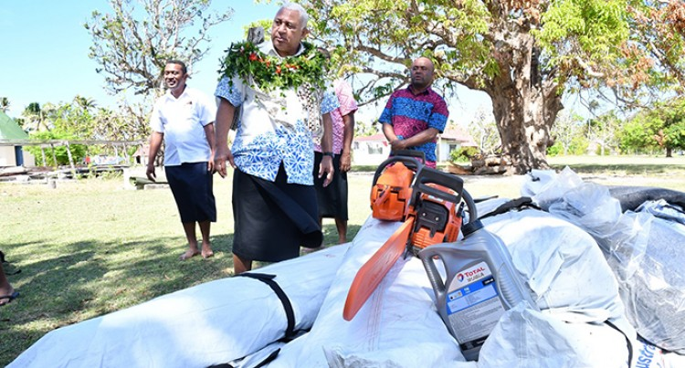 Prime Minister Voreqe Bainimarama Takes Relief To Lau Islands