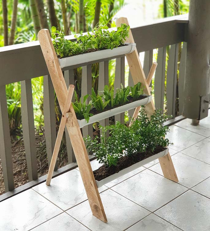 Piped Dreams creation, a ladder planter set.