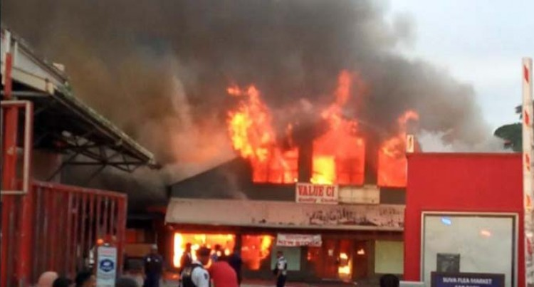 Police, NFA Investigate Fire At The Suva Value City Complex