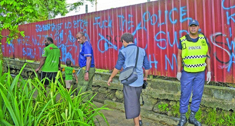 Vulgar Graffiti In Vatuwaqa Irks Crime Watch Team