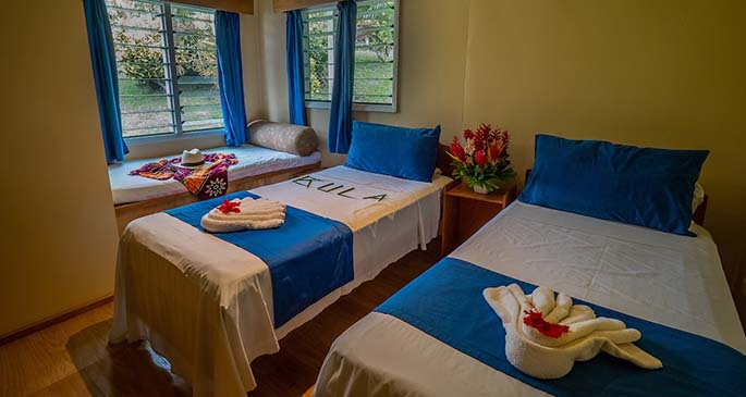Cottage-twin-share-guest-room at Daku Resort Fiji.